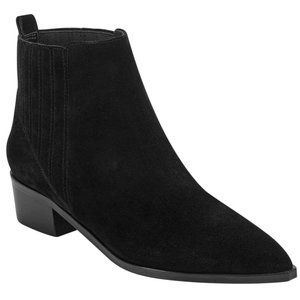 Marc Fisher miYOMMI Black Suede Ankle Booties 10